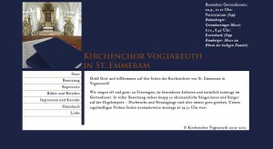 Kirchenchor St Emmeram Vogtareuth, Screenshot