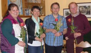 v.li.: Benedikta Aiblinger, Johanna Ober, Thomas Mayer und Martin Voggenauer (Bild: Elisabeth Thusbaß)