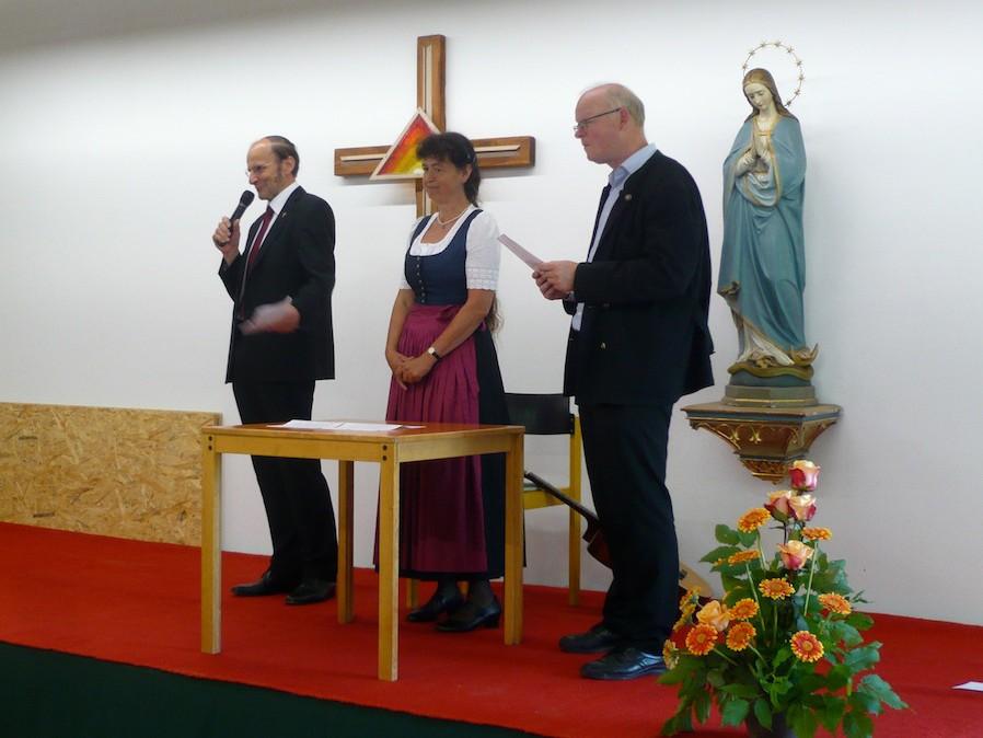 Verabschiedung von Kaplan Tobias Hartmann: Hans Mair, Theresia Kreuzmeir, Guido Seidenberger