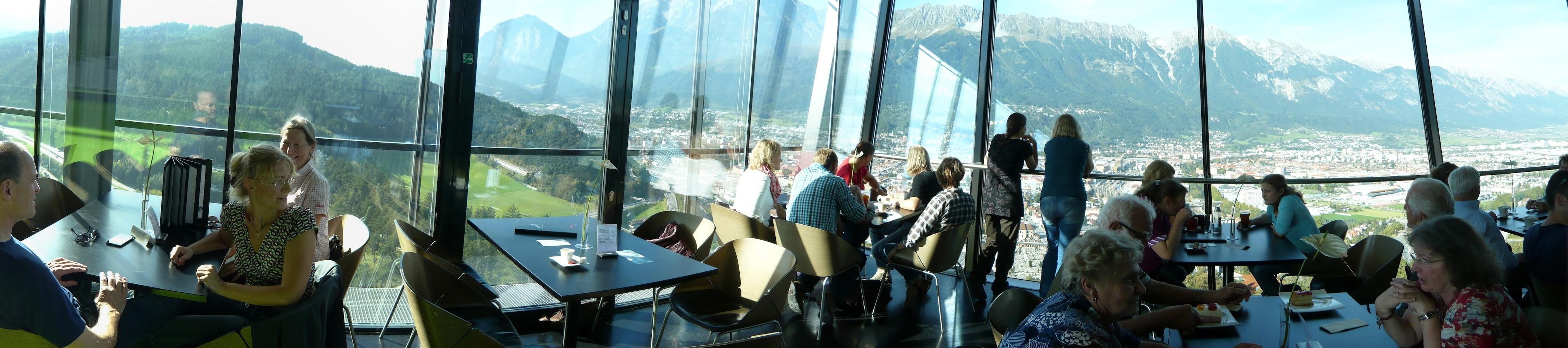 Panorama-Restaurant der Bergisel-Schanze