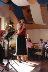 Martina Schmidmaier beim Jugendsingen und -musizieren 2014