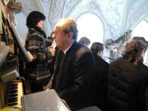 Sepp Rumberger zu Stephani 2014 an der Orgel in St. Georg