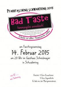 Pfarrfasching 2015: Bad Taste