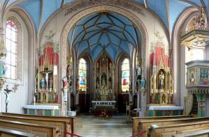 Innenansicht von St. Peter, Schwabering