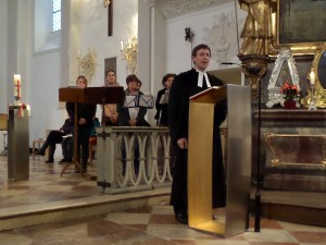 Ökumenische Pfingstvesper in St. Emmeram, Vogtareuth, am 23.5.2015