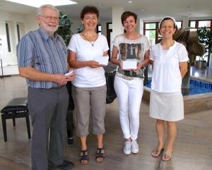 Randolfo und der eine Ton: Spendenübergabe in der Schön Klinik 2015