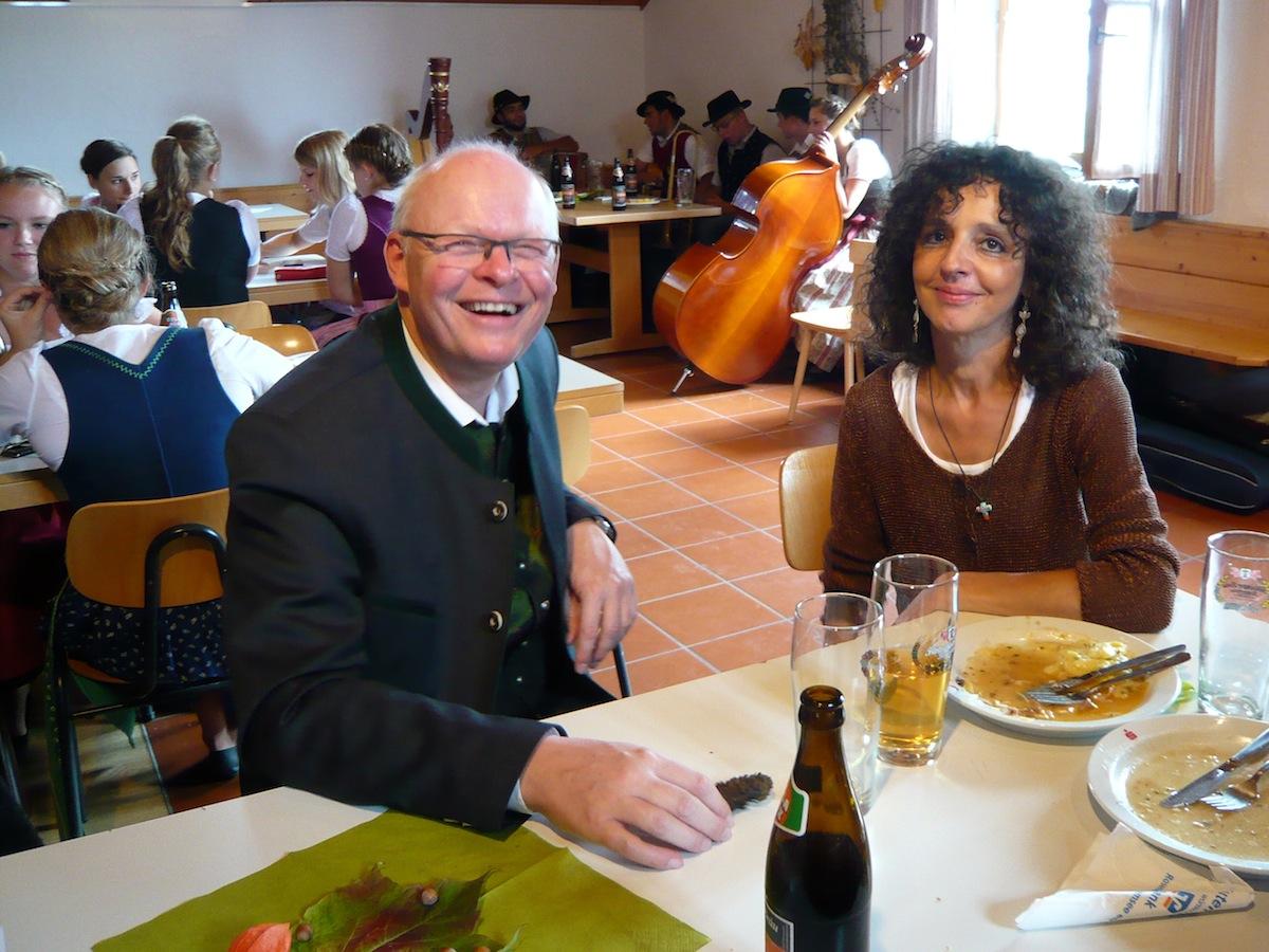 Pfarrfest Vogtareuth 2015: Pfarrer Guido Seidenberger und Doris Heinl