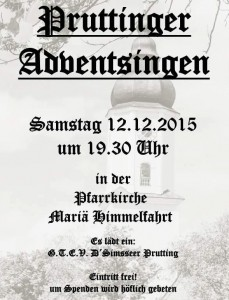 Adventssingen Prutting 2015