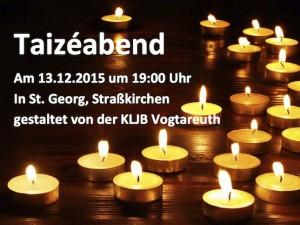 Taizé-Abend Straßkirchen 2015
