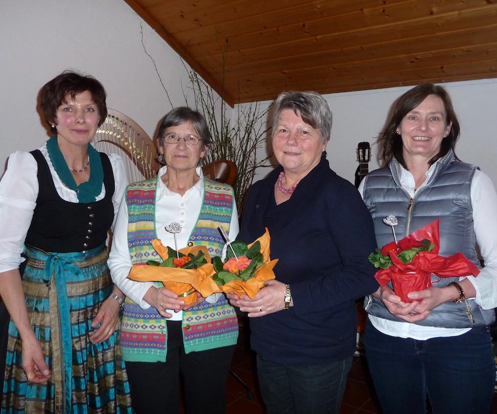 90 Jahre Frauengemeinschaft Vogtareuth: Ehemalige Schriftführerinnen