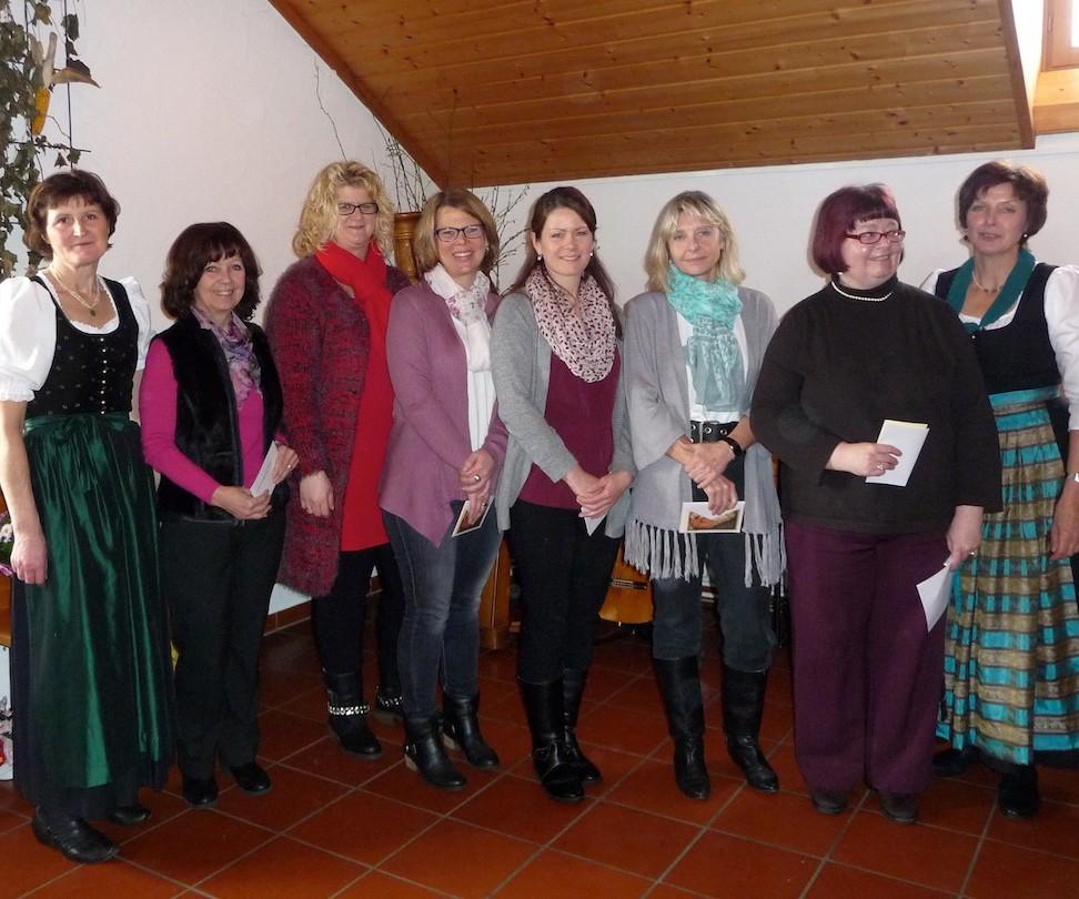 90 Jahre Frauengemeinschaft Vogtareuth: Neu aufgenommene Mitglieder