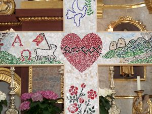 Firmung Vogtareuth 2016: Mosaikkreuz