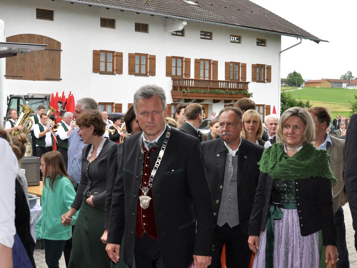 Abschluss der Außenrenovierung von St. Georg, Straßkirchen: Bürgermeister Rudolf Leitmannstetter