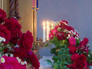 Patrozinium Schwabering: Blumenschmuck