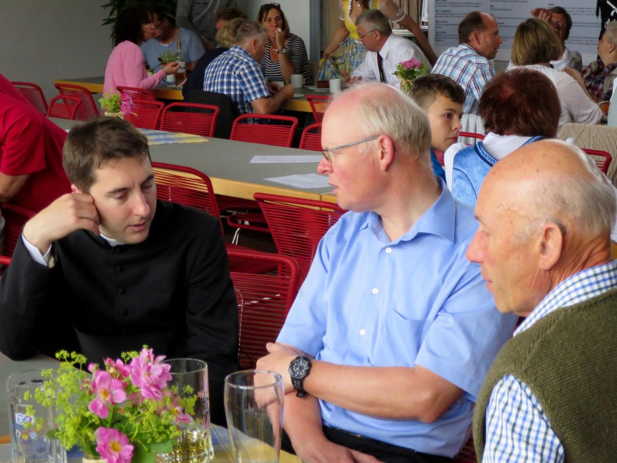 Pfarrfest Schwabering: Konrad Roider und Guido Seidenberger
