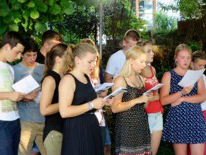 Schulschlussgottesdienst der KLJB Vogtareuth 2016: Chor