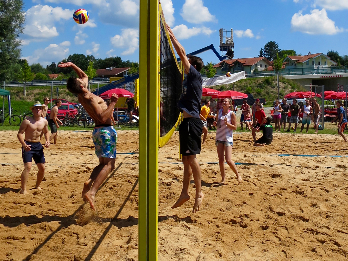 Beachvolleyballturnier der KLJB Vogtareuth am 7.8.2016