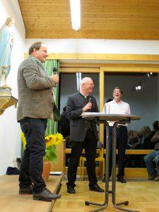Rainer-Maria Schießler in Prutting: Rainer Maria Schießler, Guido Seidenberger und Kurt Kantner