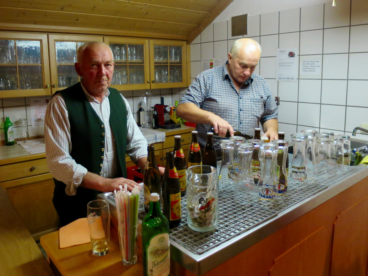 Hoagascht Vogtareuth 2016: Toni Görgmayr und Otto Eberharter