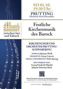 Palakt zum Kirchenkonzert Prutting