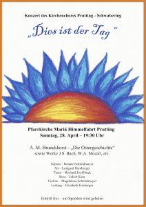 Plakat Kirchenchorkonzert Prutting-Schwabering, 29.04.2019