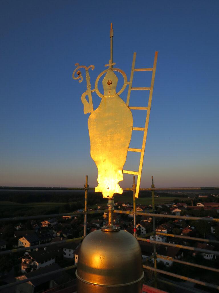 Turmsanierung St. Emmeram, Vogtareuth, 2021